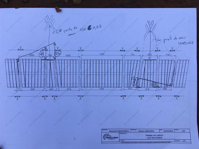 plan réalisé par notre ingénieur du bureau d'étude.